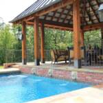 Pool Construction: Brooks Pool Co., Inc.  General Contractor: Jack Hartsell Construction | Little Rock, AR Stone Mason: Bennett Brothers | Little Rock, AR  Brooks Pool Co., Inc. | © 2014