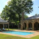 Pool Construction: Brooks Pool Co., Inc.  General Contractor: Fred Lord | Little Rock, AR Stone Mason: Bennett Brothers | Little Rock, AR Landscaping Design & Installation: Good Earth | Little Rock, AR  Brooks Pool Co., Inc. | © 2014